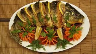 Вкуснейший карп, запеченный с овощами в духовке)))