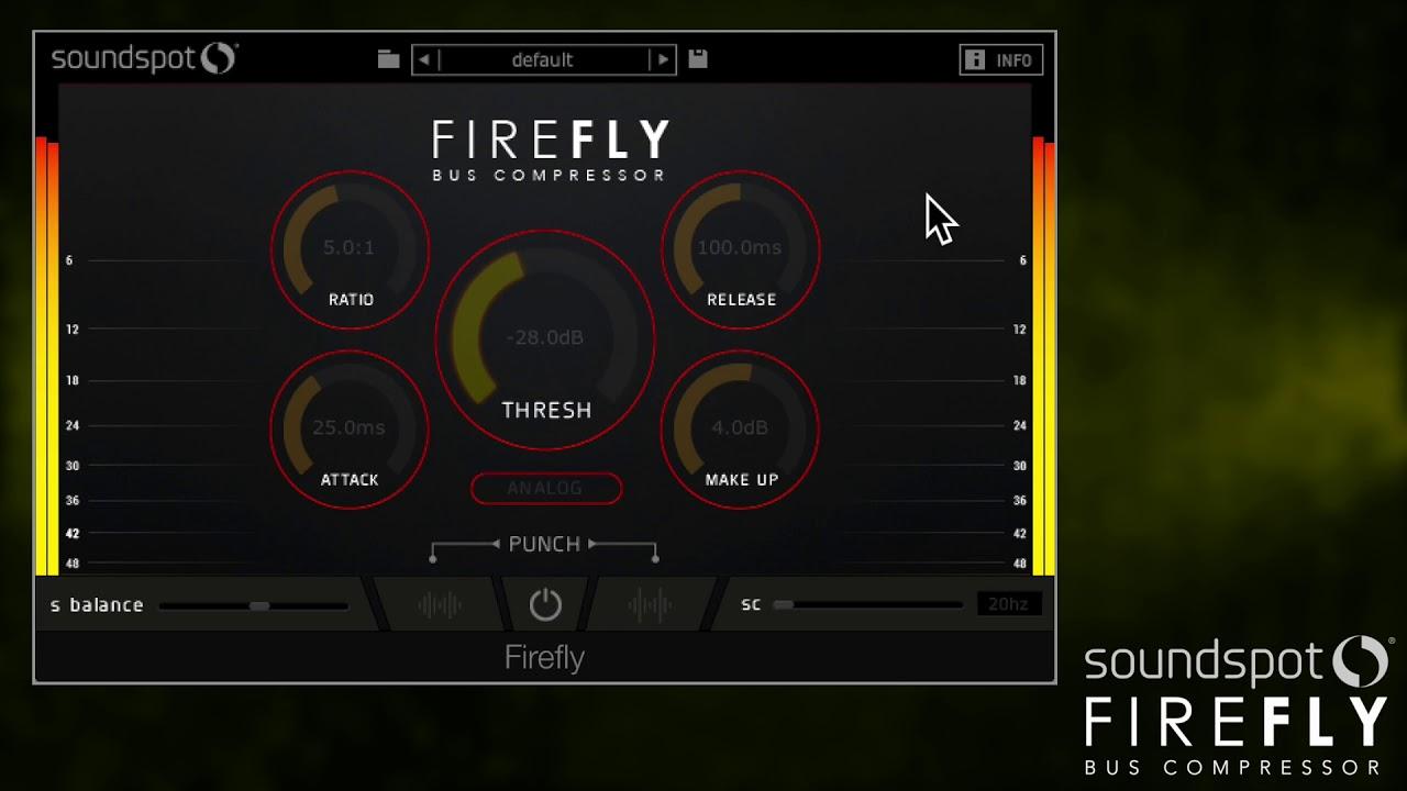 SoundSpot Introduced FireFly Bus Compressor Plugin! ($8 Intro Sale!)