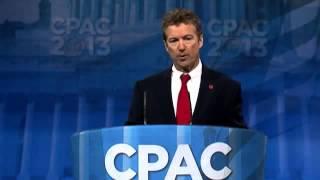 CPAC 2013 - Senator Rand Paul - Full Speech