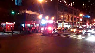 FDNY Engine 54 Responding From Quarters