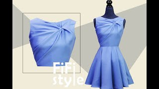 FiFi Style : Draping - Shirt twisted without seam, very smart design