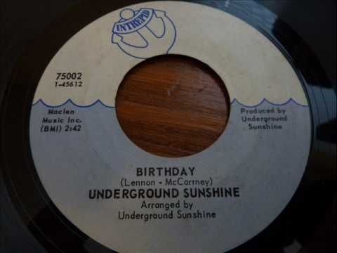 Underground Sunshine - Birthday - original...