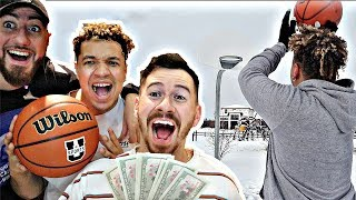 $1000 BASKETBALL FREE THROW BETS!! (Make It You Keep It, Miss It You Give It)