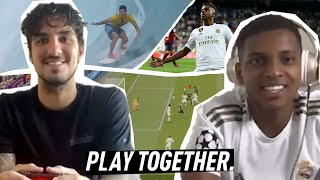 Gabriel Medina plays Real Madrid's Rodrygo in FIFA 20 | EA And WSL Present PLAY TOGETHER