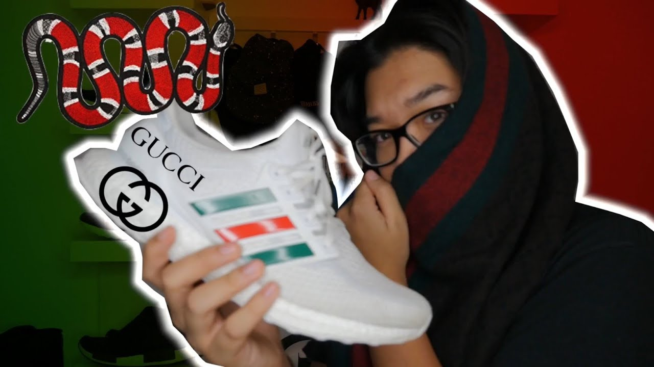 556951adb GUCCI X ULTRA BOOST FÜR 15€ 😱🔥💸// BOOSTED STRIPES CUSTOM - YouTube