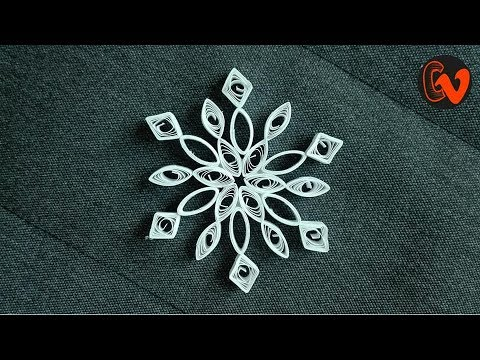 DIY Quilling Paper Snowflakes | Christmas Tree Ornaments