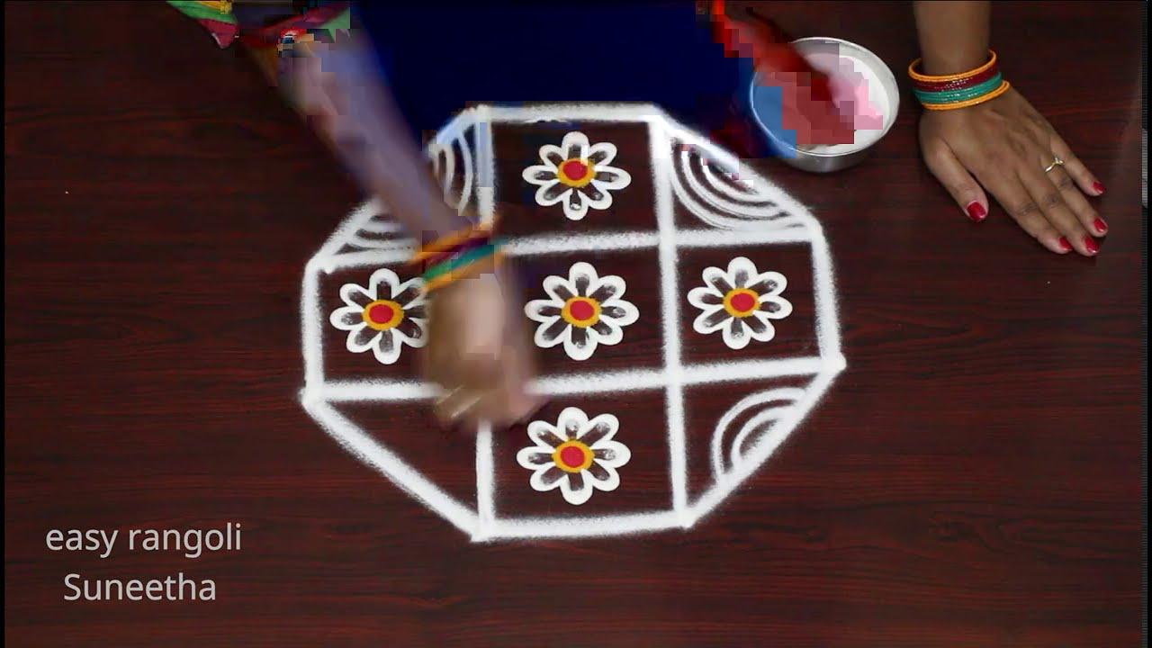 Traditional muggulu rangoli & kolam designs by easy rangoli Suneetha