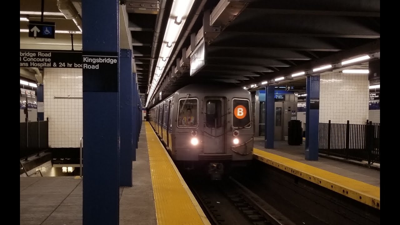 IND Concourse Line: R68A (B) Train Terminates @ Kingsbridge Road - YouTube
