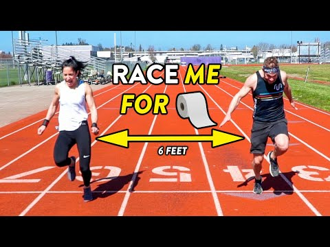 Beat Me In A Race, Win Toilet Paper! (Ft. Social Distancing)