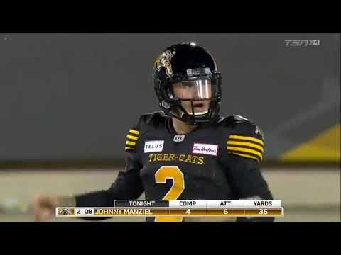 JOHNNY MANZIEL'S CFL DEBUT HIGHLIGHTS | EVERY SNAP