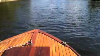 Taking The Old Wooden Boat Out,  Early Ford Engined 50s Launch