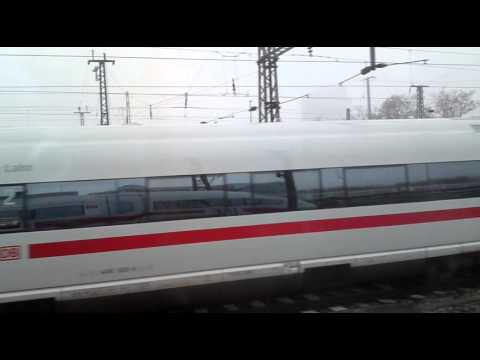 ICE from the inside - arriving at Frankfurt am Main Hauptbahnhof from Flughafen Fernbahnhof