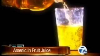 Arsenic in apple  juice