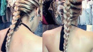 aprenda fazer trana embutida sozinha how to do braid your hair