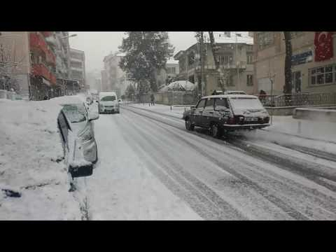 Acıpayam'da kar yağışı