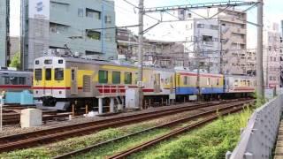 TOQi+サヤ7590検測列車雪が谷検車区出庫