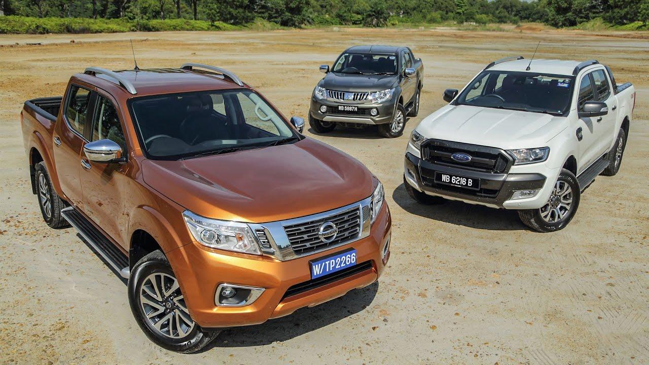 Driven 2015 5 nissan navara vs ford ranger vs mitsubishi triton youtube