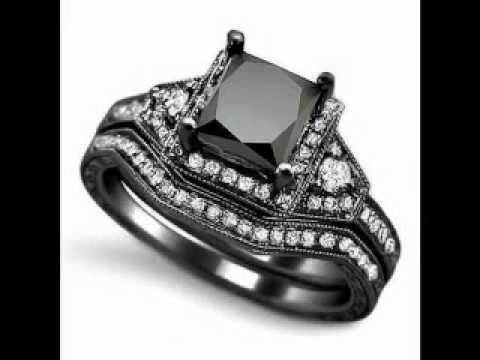 2.0ct Black Princess Cut Diamond Engagement Ring