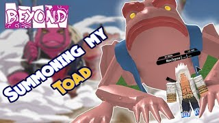 TOAD SUMMONING! | IS IT Overpowered? | Naruto Beyond RPG - Roblox