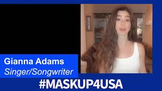 #MaskUp4USA with Gianna Adams, Singer/Songwriter/Actress & Influencer!
