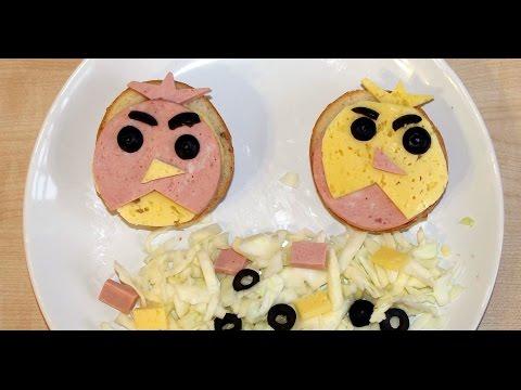 Бутерброды Angry Birds....