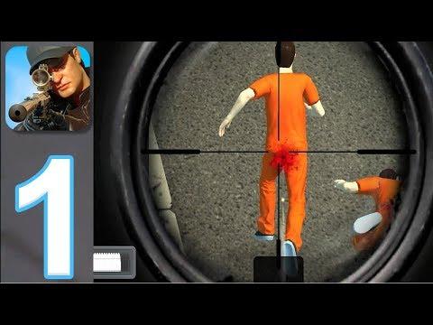 Sniper 3D Assassin: Shoot To Kill #1  прохождение и геймплей снайпер 3д стрелялки игры без интернета