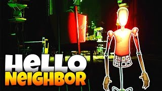 The Neighbor's Robot Army! - Hello Neighbor Alpha 4 - Red Key Room and Double Jump