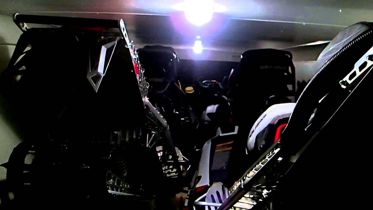 Loading Snowmobiles Into 7x29 Inline Trailer