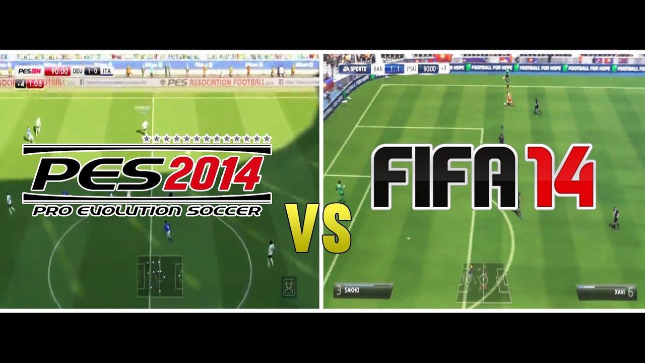 Fifa 14 vs pes 2014 gameplay hd youtube fifa 14 vs pes 2014 gameplay hd voltagebd Images