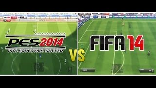 FIFA 14 vs PES 2014 GAMEPLAY (HD)