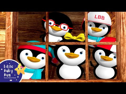 Five Little Penguins | Nursery Rhymes | Original Song By LittleBabyBum!