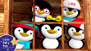 Learn with Little Baby Bum | 5 Little Penguins | Nursery Rhymes for Babies | Songs for Kids