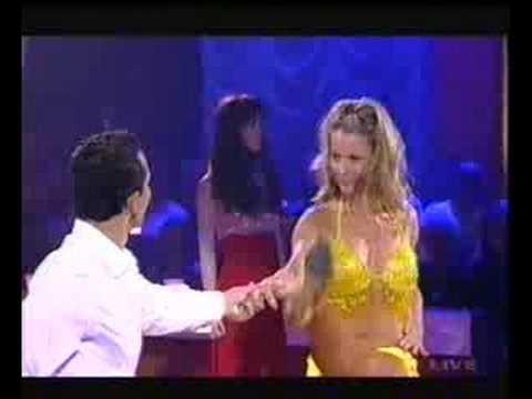 Jennifer Hawkins dancing