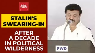 DMK President Mk Stalin Takes Oath As The New Tamil Nadu Chief Minister Along With His 34 Ministers