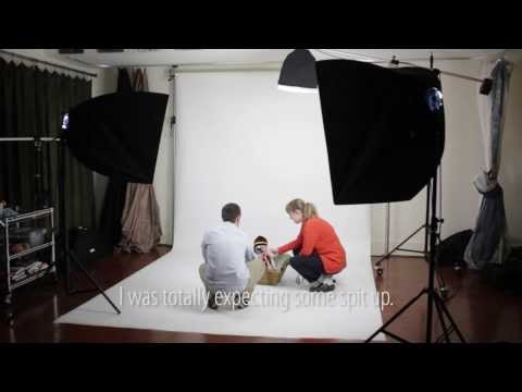Baby Portraits in Studio Using Constant Lights on White Background