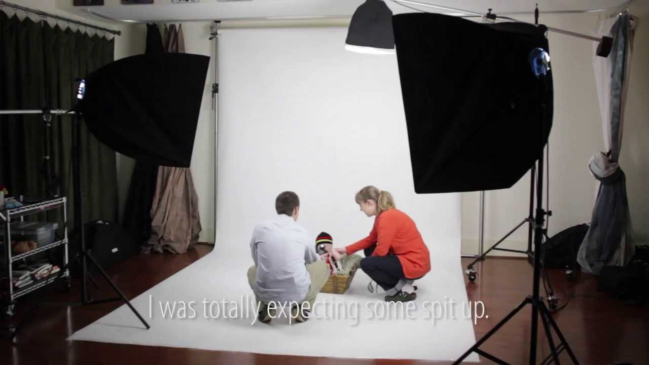 Baby Portraits in Studio Using Constant Lights on White Background ...