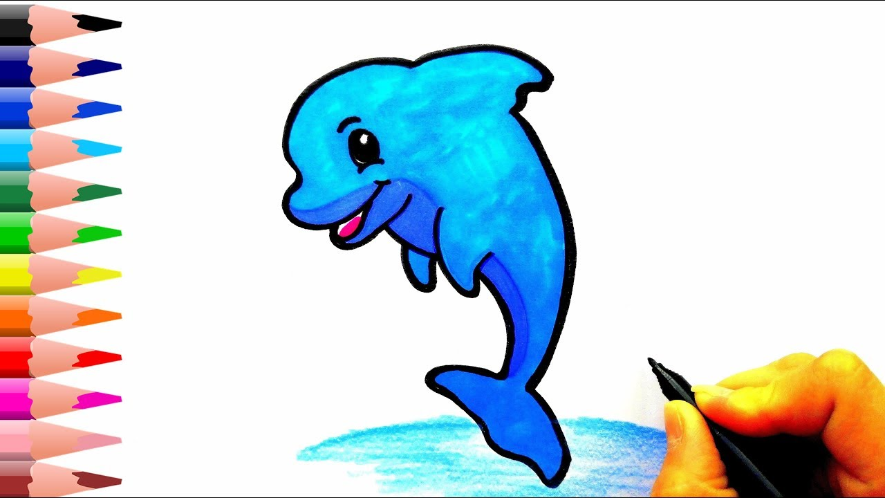 Yunus Baligi Nasil Cizilir How To Draw A Dolphin Youtube