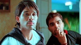 Varudu Scene - Sandy Manages The Couple Hiding In His House - Allu Arjun , Pradeep