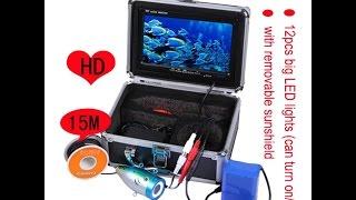 Underwater baliq kamera camcorder ta'mirlash va daryo suv test