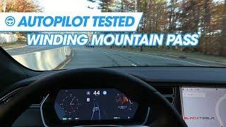 Tesla's Autopilot Tested - Winding Mountain Pass