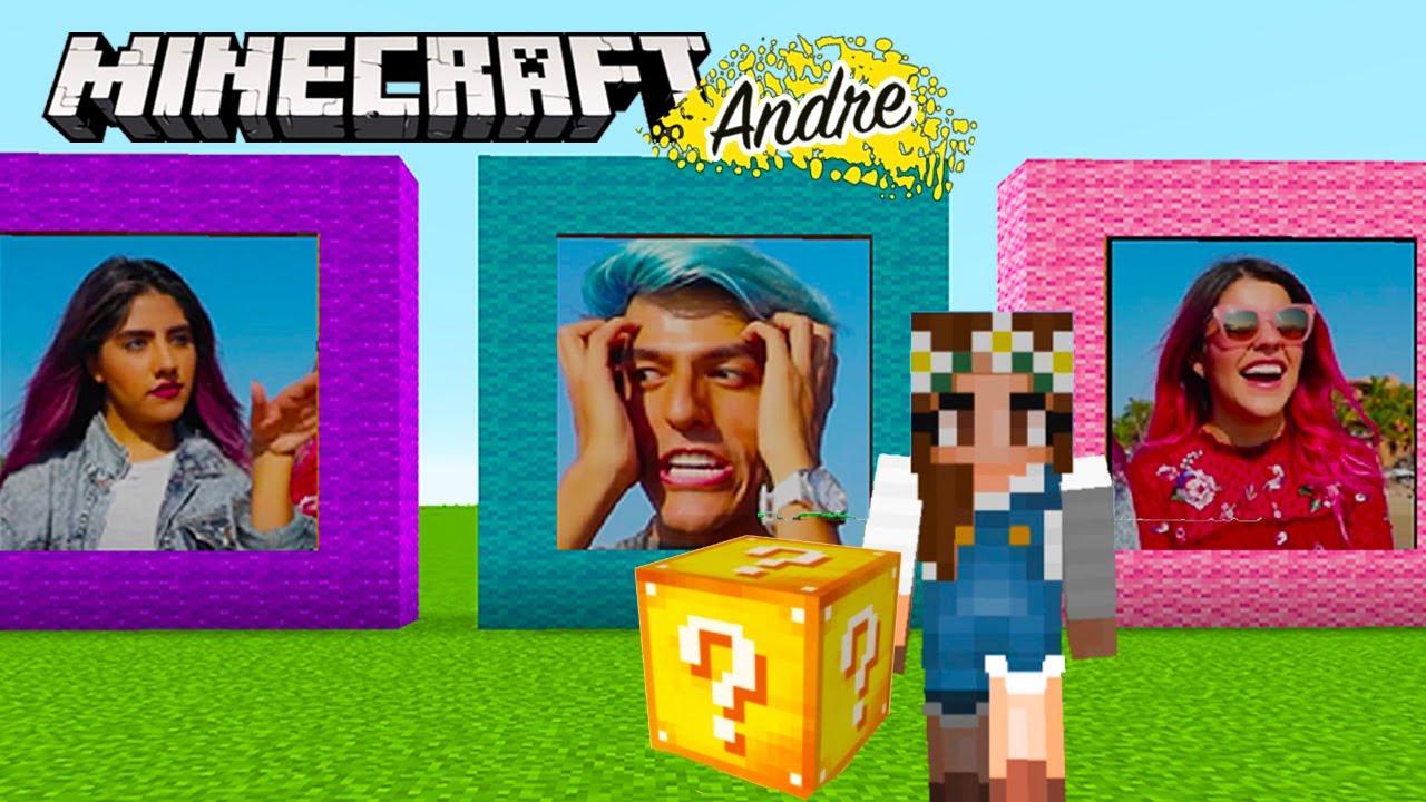Minecraft Andre | No abras el lucky block incorrecto de Los Polinesios
