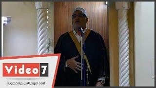 بالفيديو.. إمام مسجد مصطفى محمود يلتزم بخطبة الأوقاف بدون الورقة