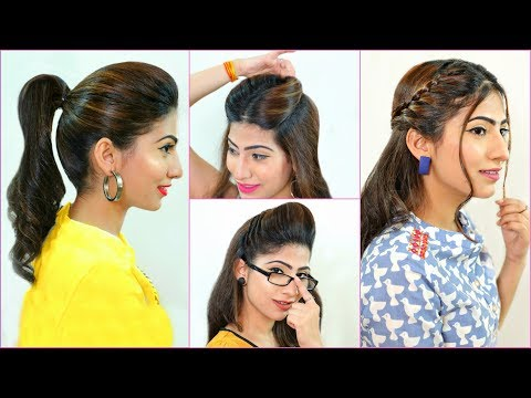 5 Everyday HAIRSTYLES Every Teenager/Office/College Girls MUST Try | #Summers #HairHacks #Anaysa thumbnail