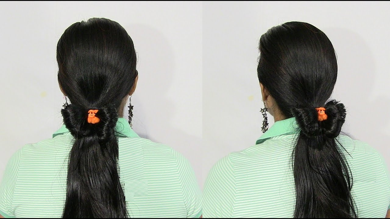 Butterfly Style Low Ponytail Hairstyle - Easy and Cute Hairstyles ...
