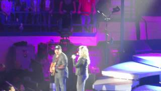 Shes in love with the boy Trisha Yearwood Garth Brooks at AllState Arena