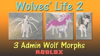 Roblox - Wölfe Leben 2 - 3 Admin Wolf Morphs! - HD (Morphs werden entfernt)