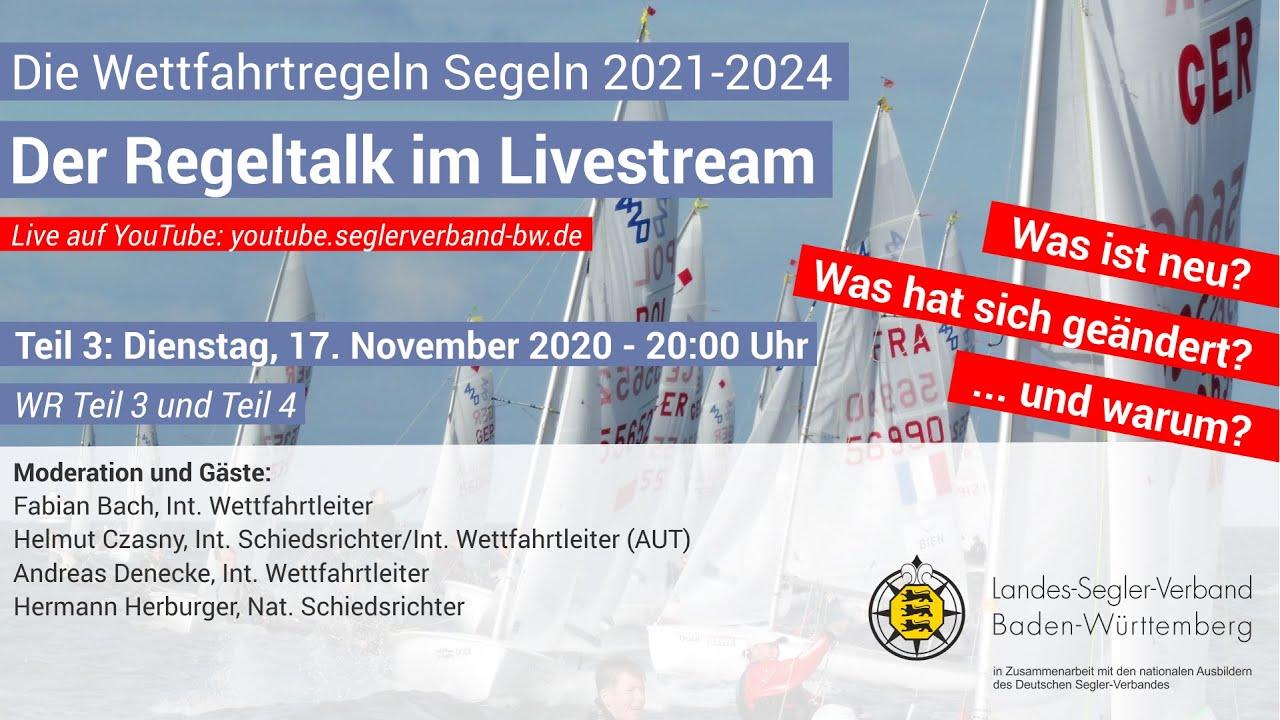 Teil 3 - Der Regeltalk im Livestream: Die Wettfahrtregeln Segeln 2021-2024