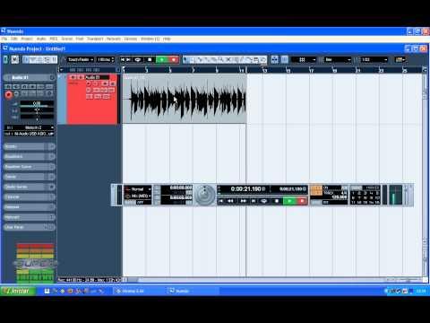Gravando Audio - Video Aula Nuendo 3 com Márcio Mourão