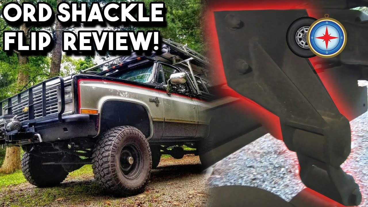 hight resolution of how to lift a k5 blazer ord shackle flip review 73 87 chevy truck