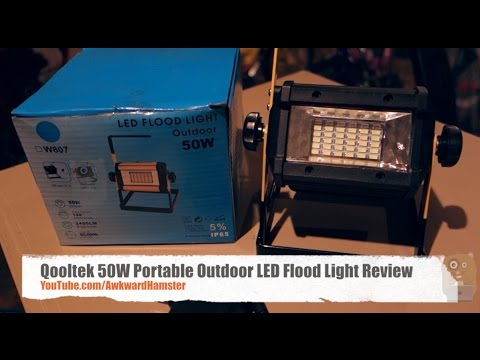 Qooltek 50w portable outdoor led flood light review youtube qooltek 50w portable outdoor led flood light review mozeypictures